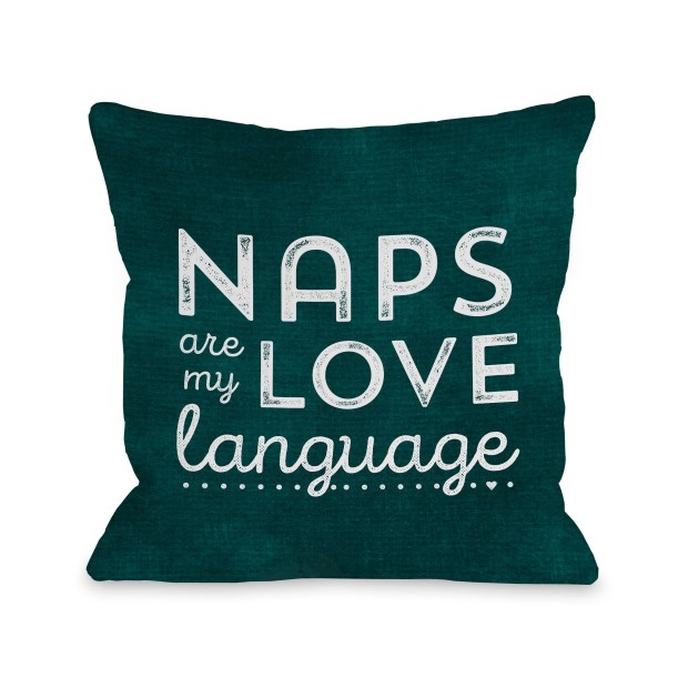 Naps - Teal  Pillow by Cheryl Overton