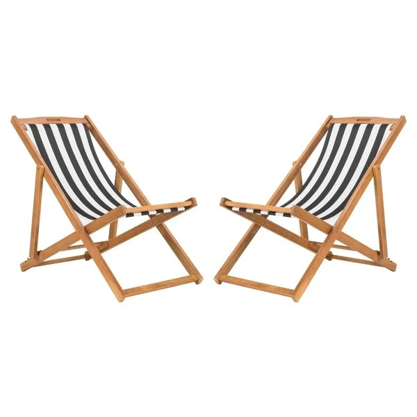 sling chairs for sale swing chair verandah shop safavieh outdoor living loren foldable black white on free shipping today overstock com 22286449