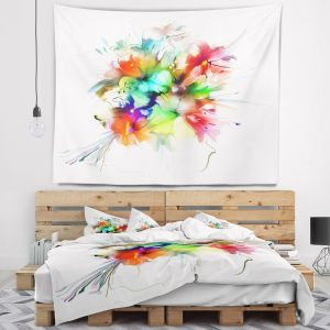 Designart 'Summer Flowers in Different Colors' Floral Wall Tapestry