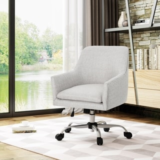 office club chairs patio chair covers near me buy blue conference room online at overstock com johnson mid century modern fabric home with chrome base by christopher knight