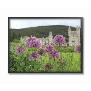 The Stupell Home Decor Collection Royal Castle Purple Flowers Photograph, Framed Giclee, 16 x 1.5 x 20, Made in USA