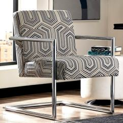 Patterned Living Room Chairs Dorm For Guys Shop Modern Bluestone Tone Geometric Accent Chair
