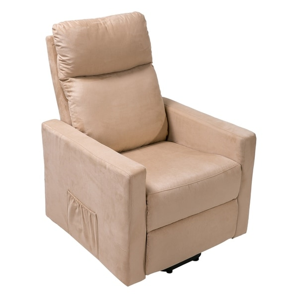 heavy duty lift chair canada ergonomic no wheels shop merax suede fabric power and recliner living room with mechanism