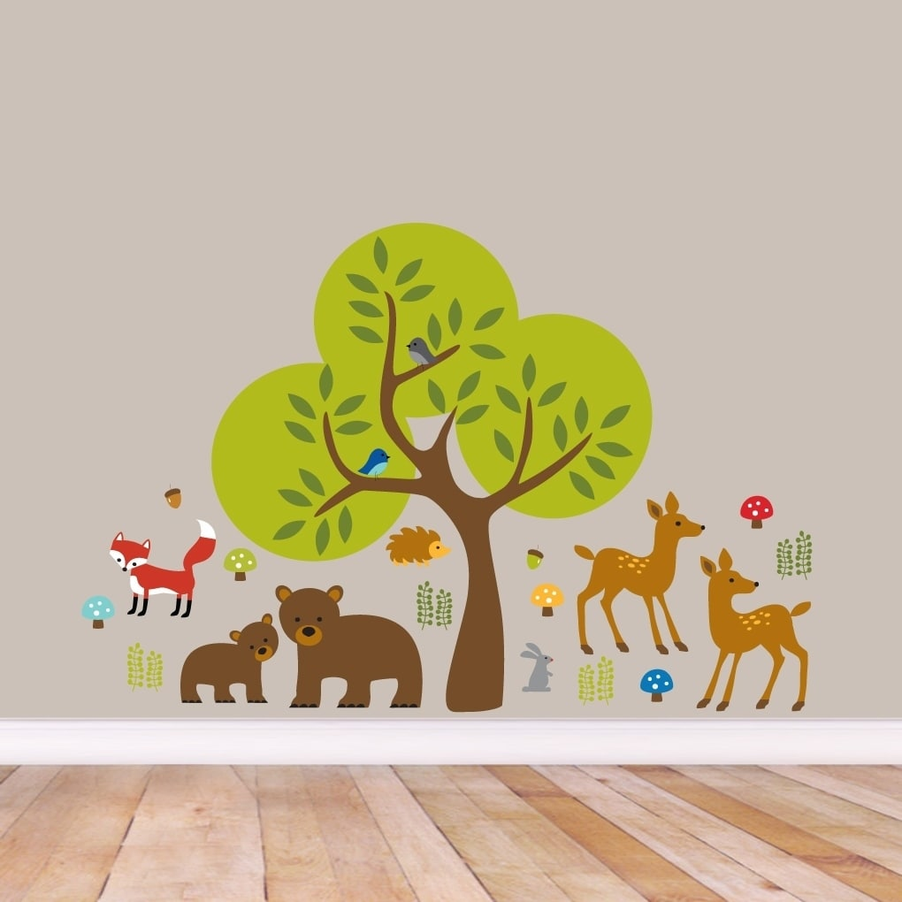 Woodland Forest Printed Wall Decal Pack
