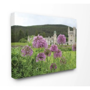 The Stupell Home Decor Collection Royal Castle Purple Flowers Photograph, Canvas, 16 x 1.5 x 20, Made in USA - Multi-color