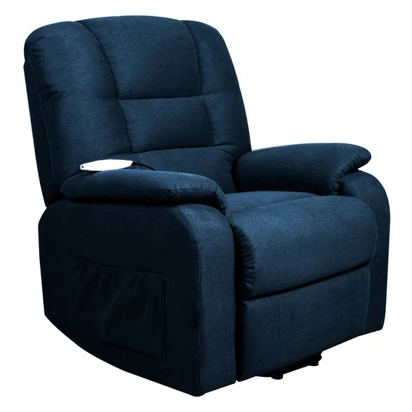 Shop Serta Rockland Navy Upholstered Recliner Chair  On