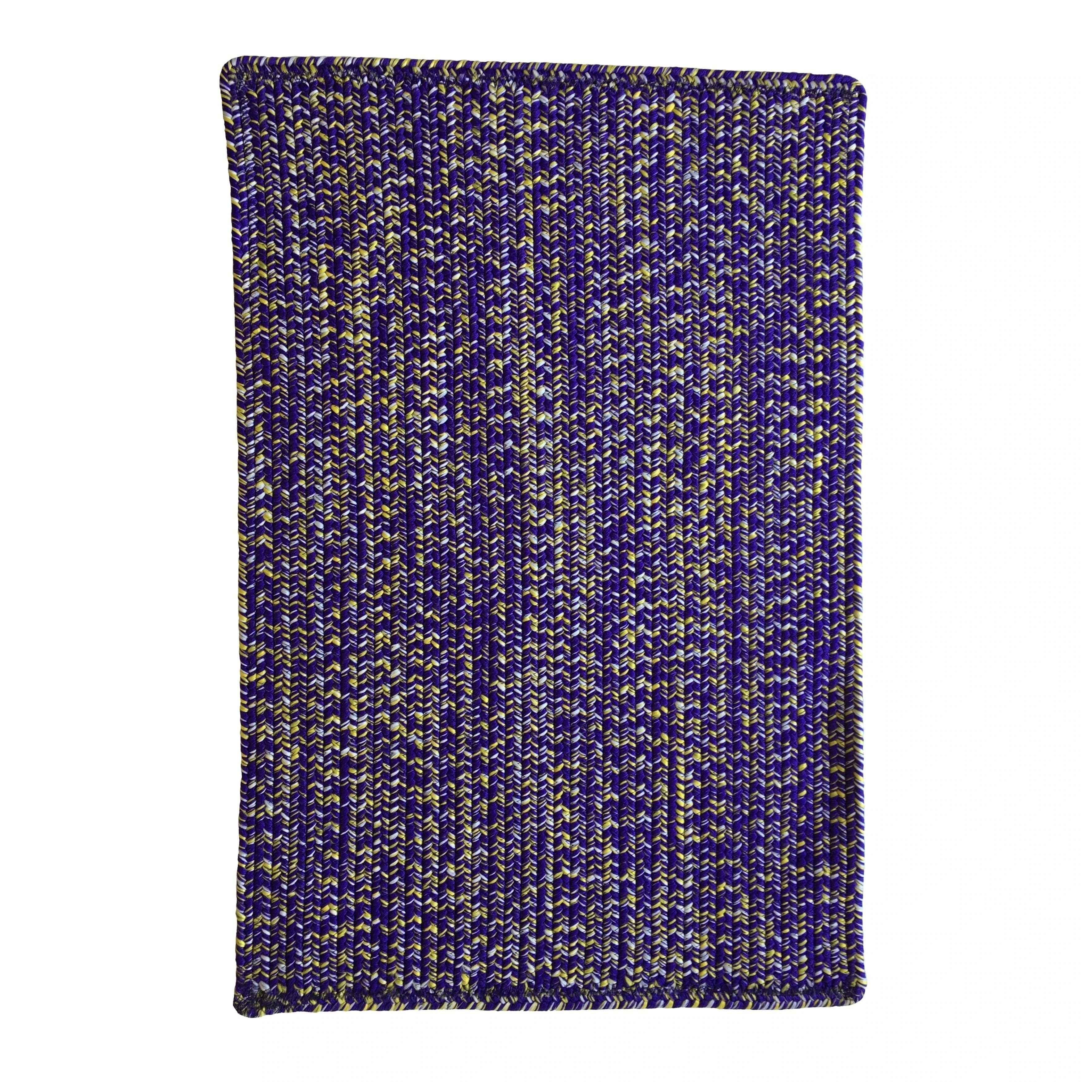 Capel Rugs Team Spirit Purple Gold Hand-Braided Vertical Stripe Rectangle Area Rug - 3' x 5'