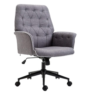 cloth office chairs white ergonomic chair uk buy fabric conference room online at overstock com homcom upholstered low back padded