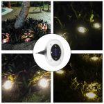Shop Black Friday Deals On Solar Powered Ground Light Outdoor Waterproof Garden Pathway Lights Overstock 22470161