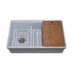 Blue Kitchen Sink Best Way To Refinish Cabinets Farmhouse Sinks Shop Our Home Improvement Deals Online At 60 40 Double Bowl In White With