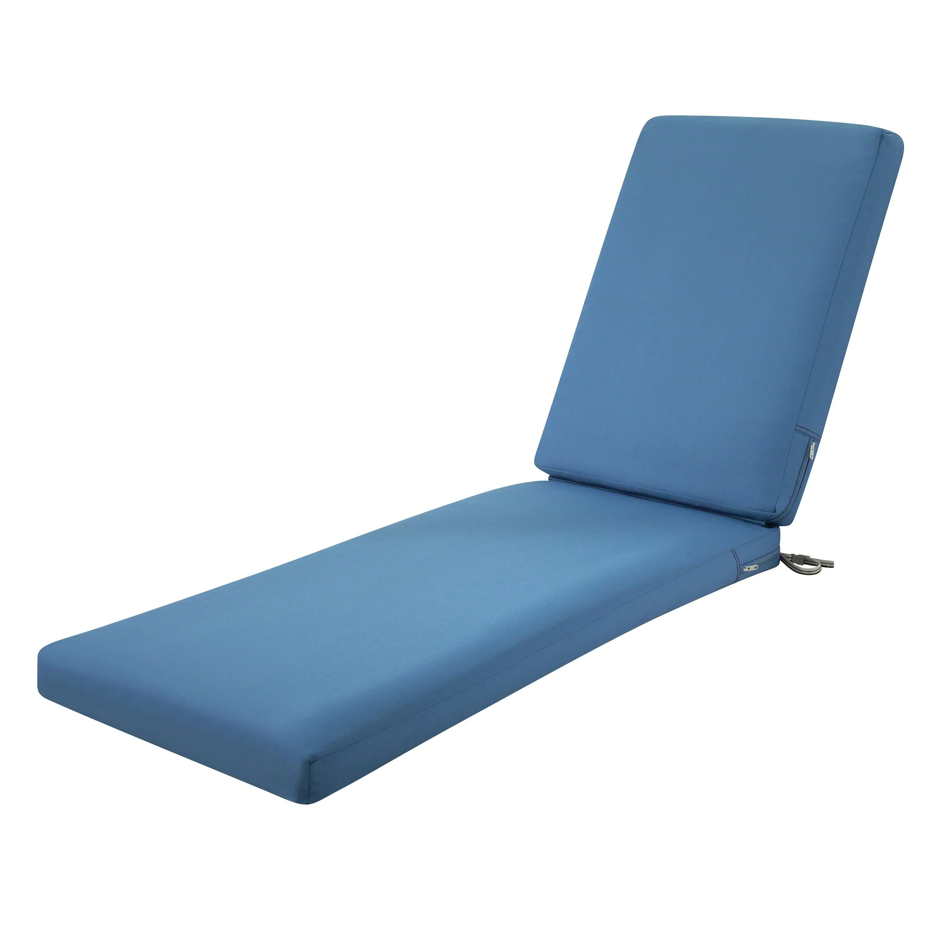 classic accessories ravenna water resistant 72 x 21 x 3 inch patio chaise lounge cushion empire blue