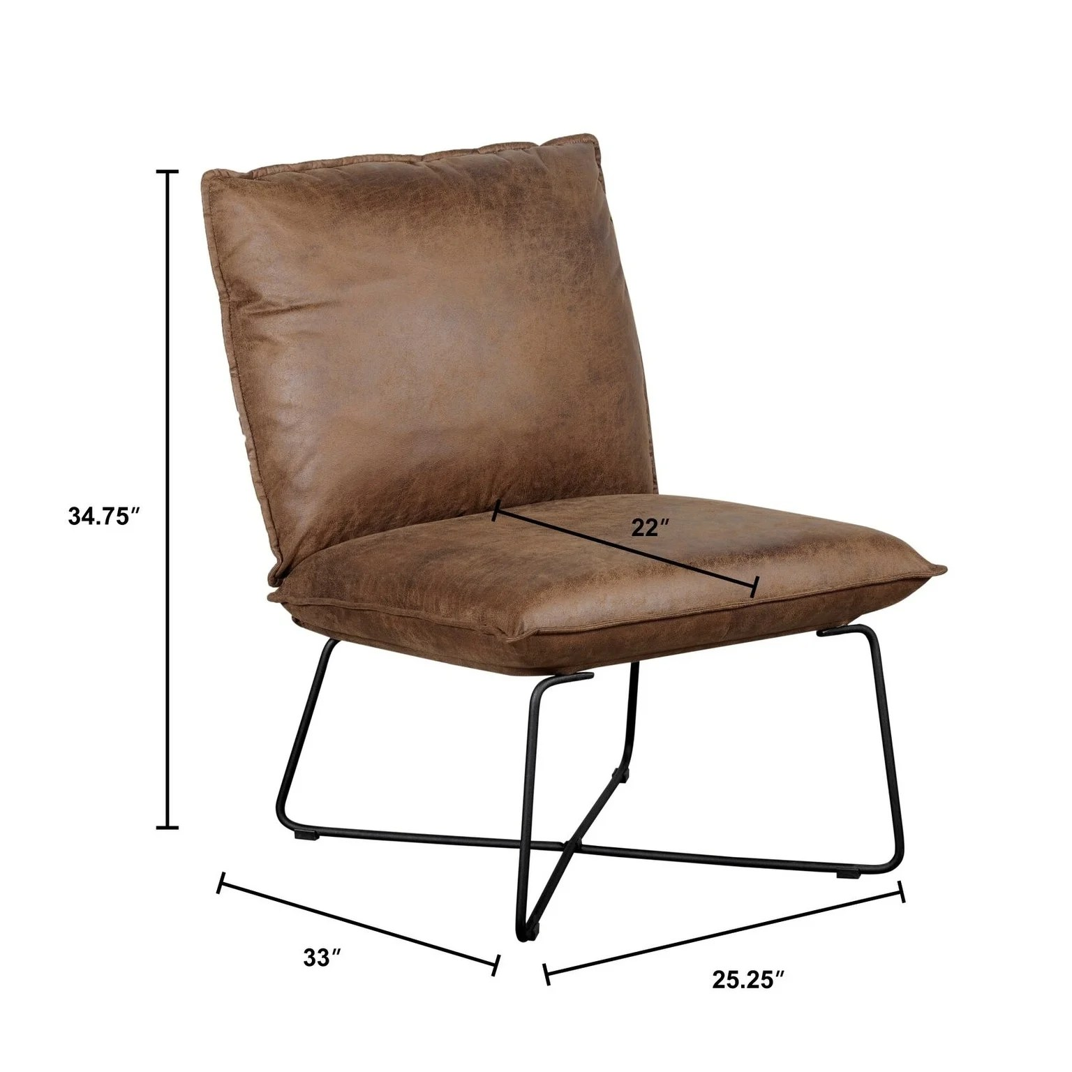 Armless Lounge Chair Tommy Hilfiger Ellington Armless Lounge Chair