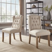 Wingback Dining Chair With Nailhead Trim - Dining room ideas