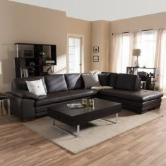 Best Sectional Sofa Reviews Sofactory Canape Cuir Shop Diana Dark Brown Leather Set - Free ...