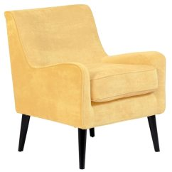 Yellow Upholstered Accent Chair Sit Stand Ikea Shop Porter Designs Kristina Wood Frame Modern Free Shipping Today Overstock Com 22565323
