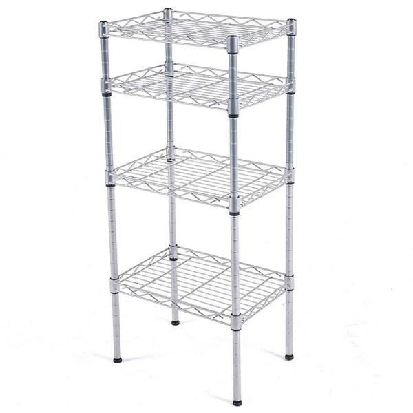 Shop JS HOME 4-Tier Kitchen Storage Rack Wire Shelving