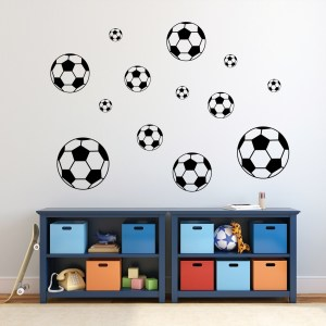 Soccer Balls Wall Decal Pack - MEDIUM