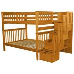 Shop Bedz King Stairway Bunk Beds Full Over Full With 4 Drawers In The Steps Honey Overstock 22669843