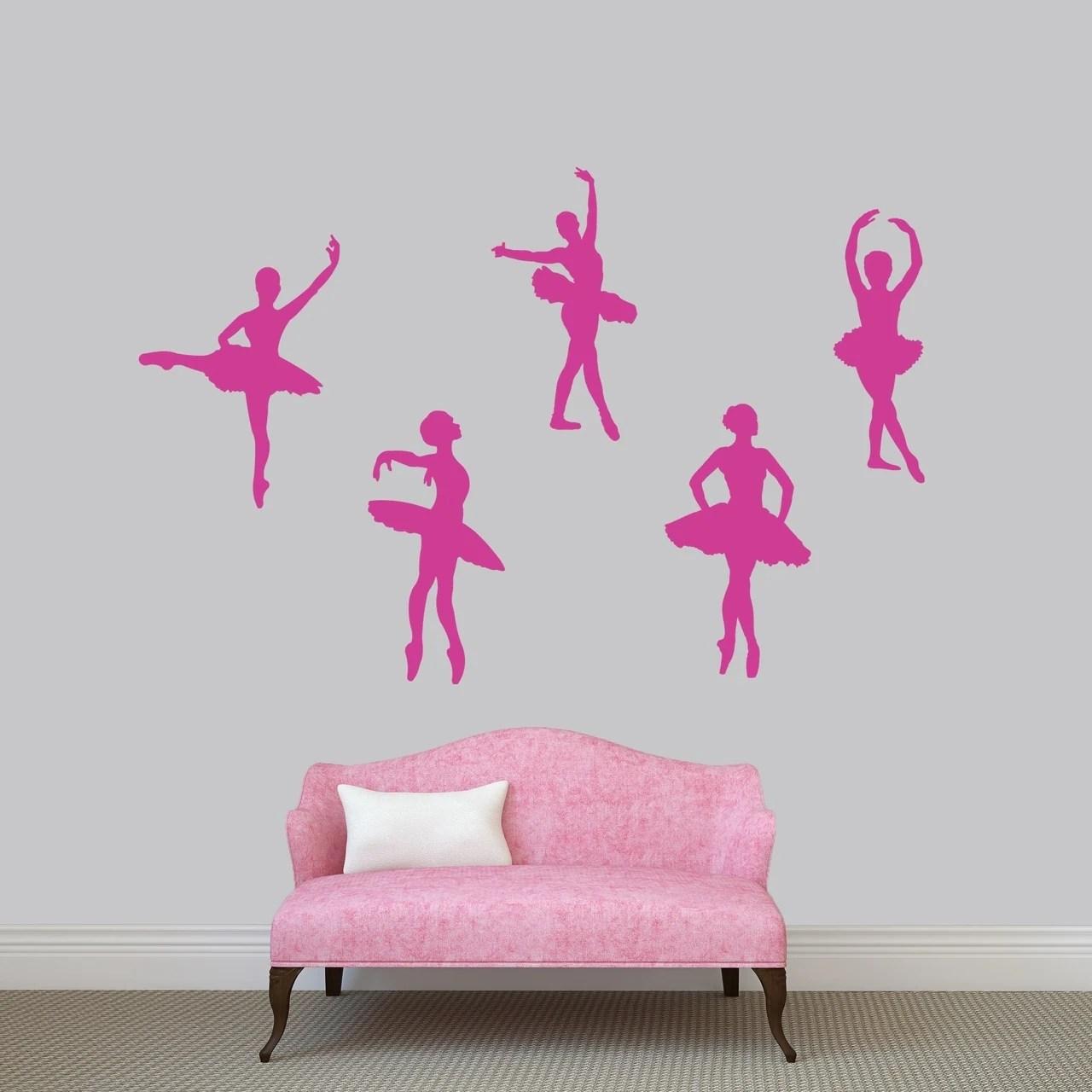 Set of Ballerinas Wall Decal Pack - MEDIUM