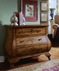 Hand-painted Chestnut Bombay Chest - 10522770 - Overstock ...