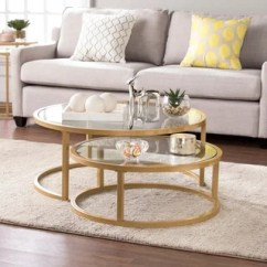 Glass Table Sets For Living Room Rooms To Go Buy Coffee Tables Online At Overstock Com Our Best Silver Orchid Grant Glam Nesting Cocktail 2 Piece Set