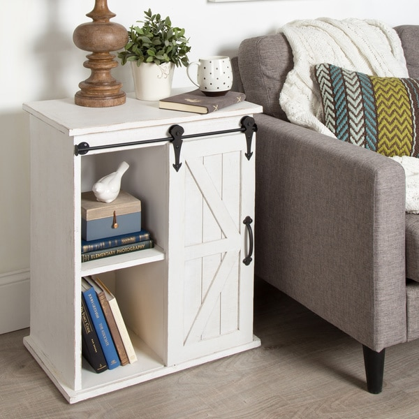 kate and laurel cates wood end table