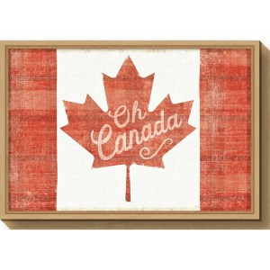 Canvas Art Framed 'Oh Canada Flag' by Sue Schlabach - 16 x 23.5