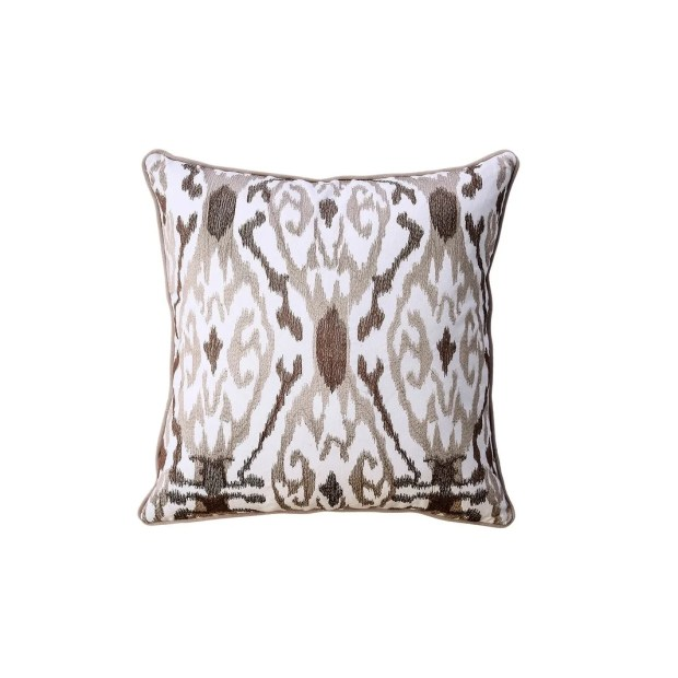 Contemporary Style Abstract Pattern Design Cotton Throw Pillow, Set of 2
