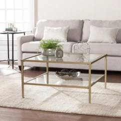 Square Living Room Tables Design Your Own Online Buy Coffee At Overstock Com Our Best Porch Den Sorlie Metal Glass Open Shelf Cocktail Table Gold