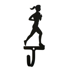 Village Wrought Iron Runner Woman's/Girl's Decorative Wall Hook - Small