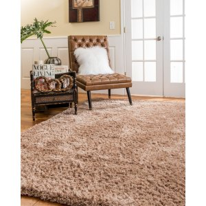 Natural Area Rugs Shag Cerdena Polyester Rectangle Rug (8'X10') Wheat - 8' x 10'