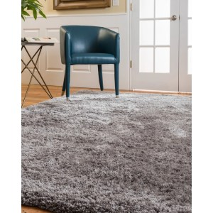 Natural Area Rugs Shag Cerdena Polyester Rectangle Rug (9'X12') Silver - 9' x 12'