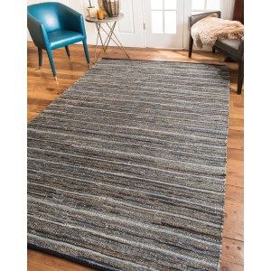 Natural Area Rugs 100% Natural Fiber Handmade Reversible Navarre Cotton Jute Rectangle Rug (8'X10') Multi - 8' x 10'