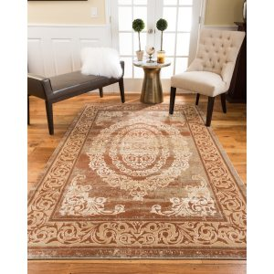Natural Area Rugs Vintage Oriental Stella Polypropylene Rectangle Rug (3'X5') Rust - 3'x5'