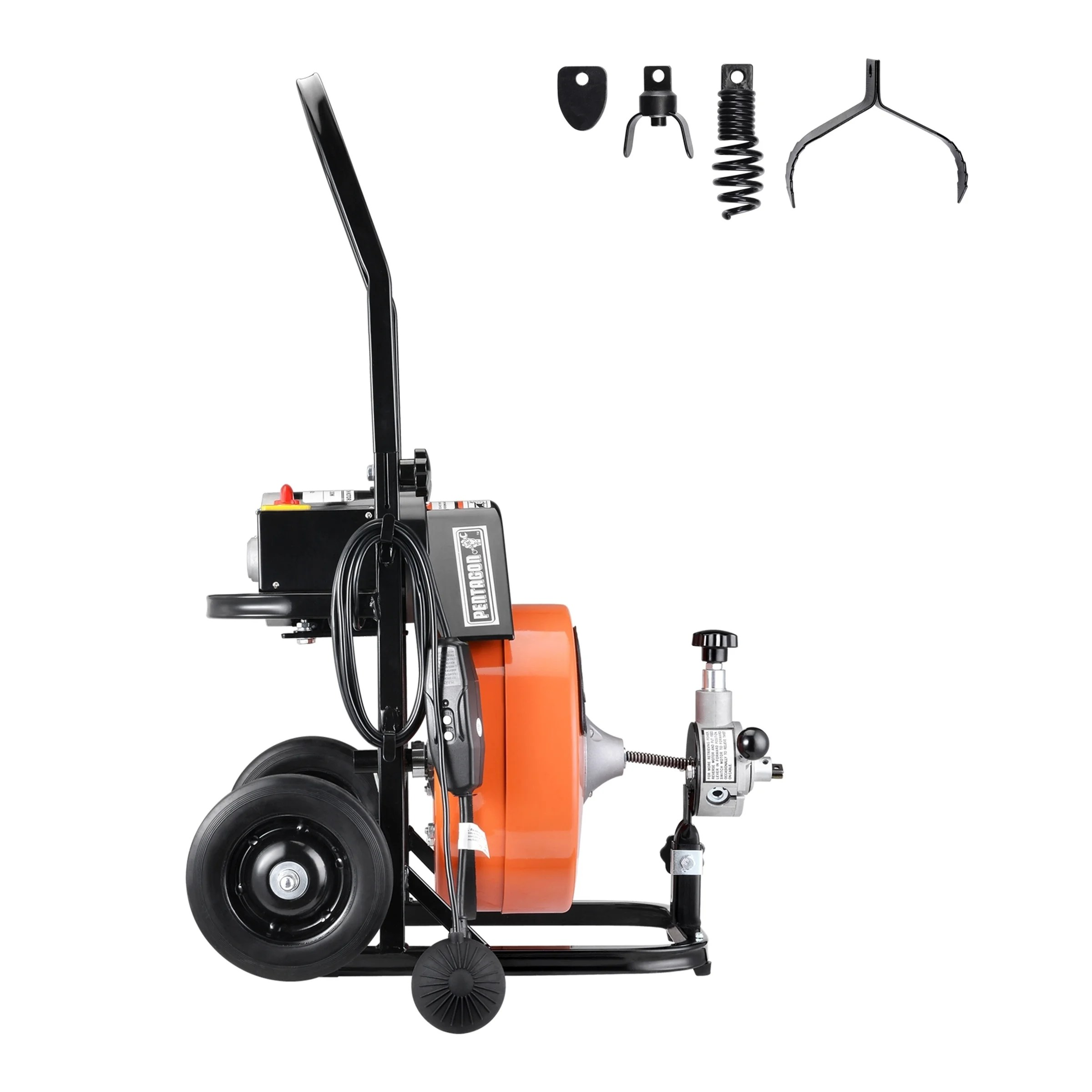 Shop Drum Power Auger 1 2 Inch By 50 Ft Electric Drain Cleaner Snake Compact With Built In Gfci Pentagon Tool Overstock 22746951