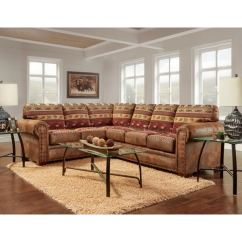 American Furniture Living Room Sectionals White Ceiling Fan Shop Classics Model B1650k Sierra Lodge Two Piece Sectional Sofa