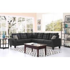 Moss Studio Sofa Reviews Back Of Bookcase Shop Large 2-piece Blended Linen Sectional With ...