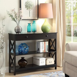 living room console decoration small tables furniture find great deals copper grove cranesbill 1 drawer table