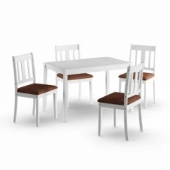 White Table Chairs Ergonomic Chair Near Me Buy Kitchen Dining Room Sets Online At Overstock Com Our Porch Den Aaron 5 Piece Set