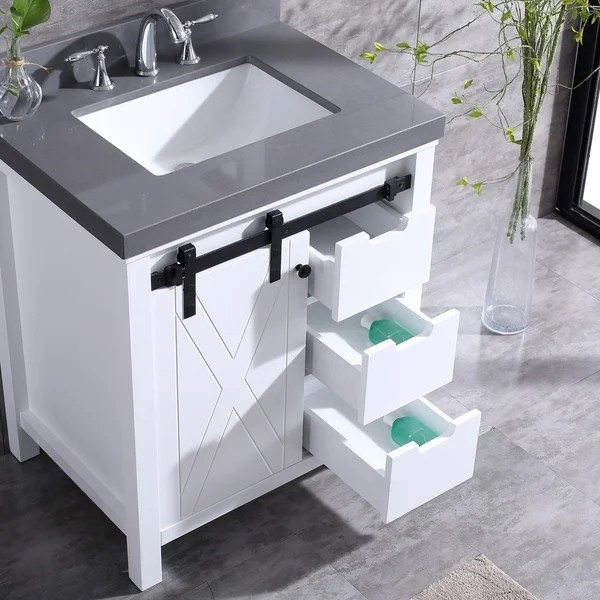 Shop Eviva Dallas 36 In White Bathroom Vanity With Absolute Black Granite Countertop Overstock 22797365