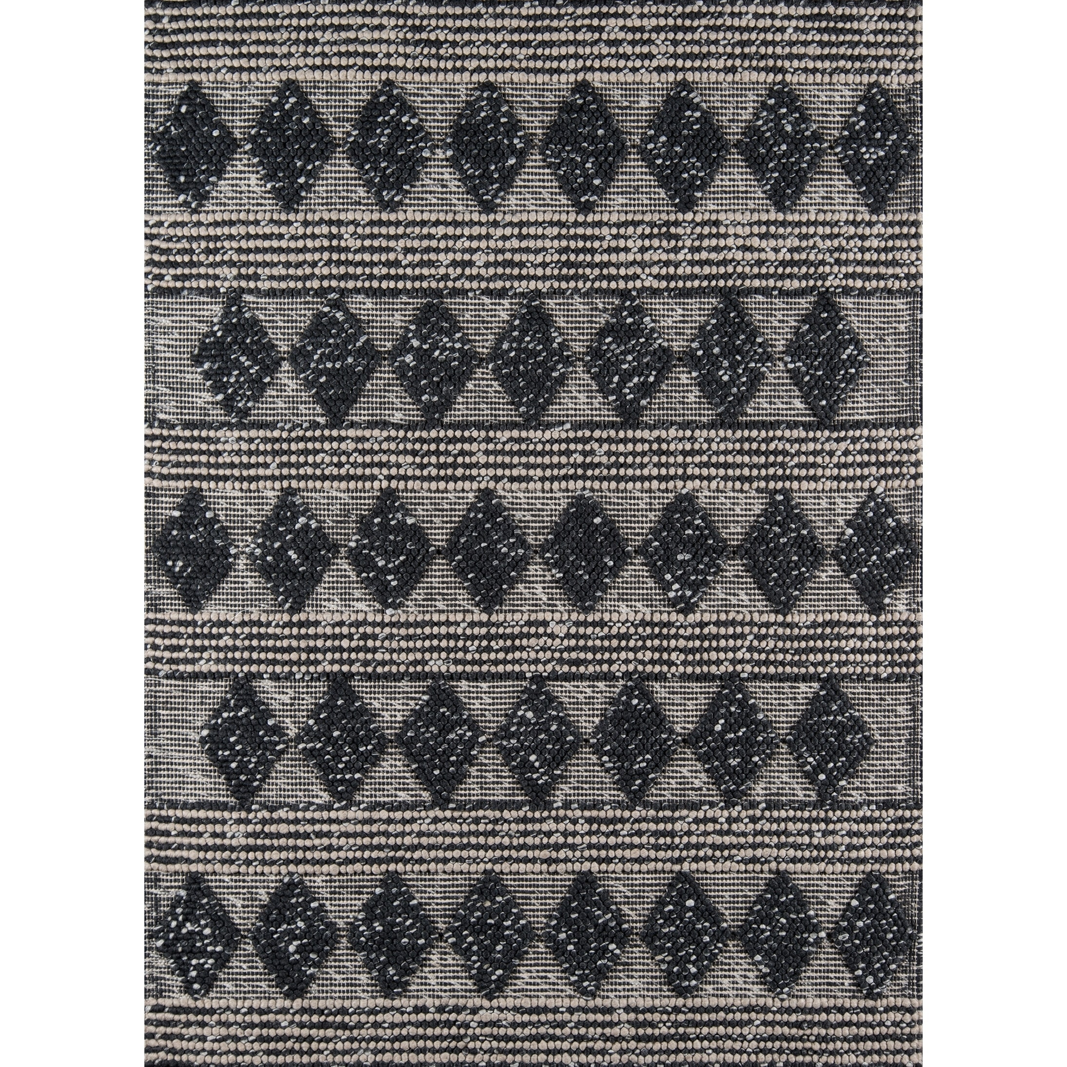 Momeni Andes Handmade Wool Blend Charcoal Area Rug - 6' x 9'