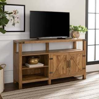 tv stand living room rooms with dark grey feature walls buy stands online at overstock com our best the gray barn kujawa 58 barndoor console x 16