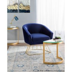 Metal Tub Chairs Recliner Chair Protectors Shop Canary Contemporary Glam In And Velvet Fabric