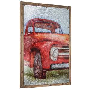 Vintage Truck Print on Metal - Farmhouse Wall Art Decor