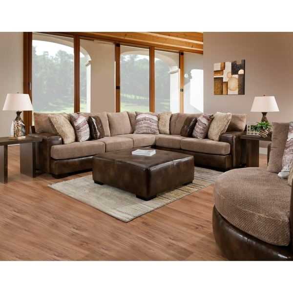 sofatrendz fonda two toned sectional only