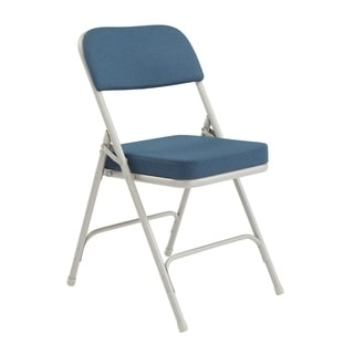 blue metal folding chairs swivel round chair buy online at overstock com our best home office furniture deals