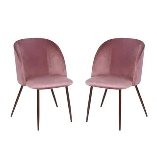 pink dining room chairs hanging chair early settler buy kitchen online at overstock com our poly and bark kantwell velvet set of 2