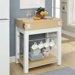 Two Tone Kitchen Island Moen Brantford Faucet Shop Furniture Of America Thompson With Cutting Board