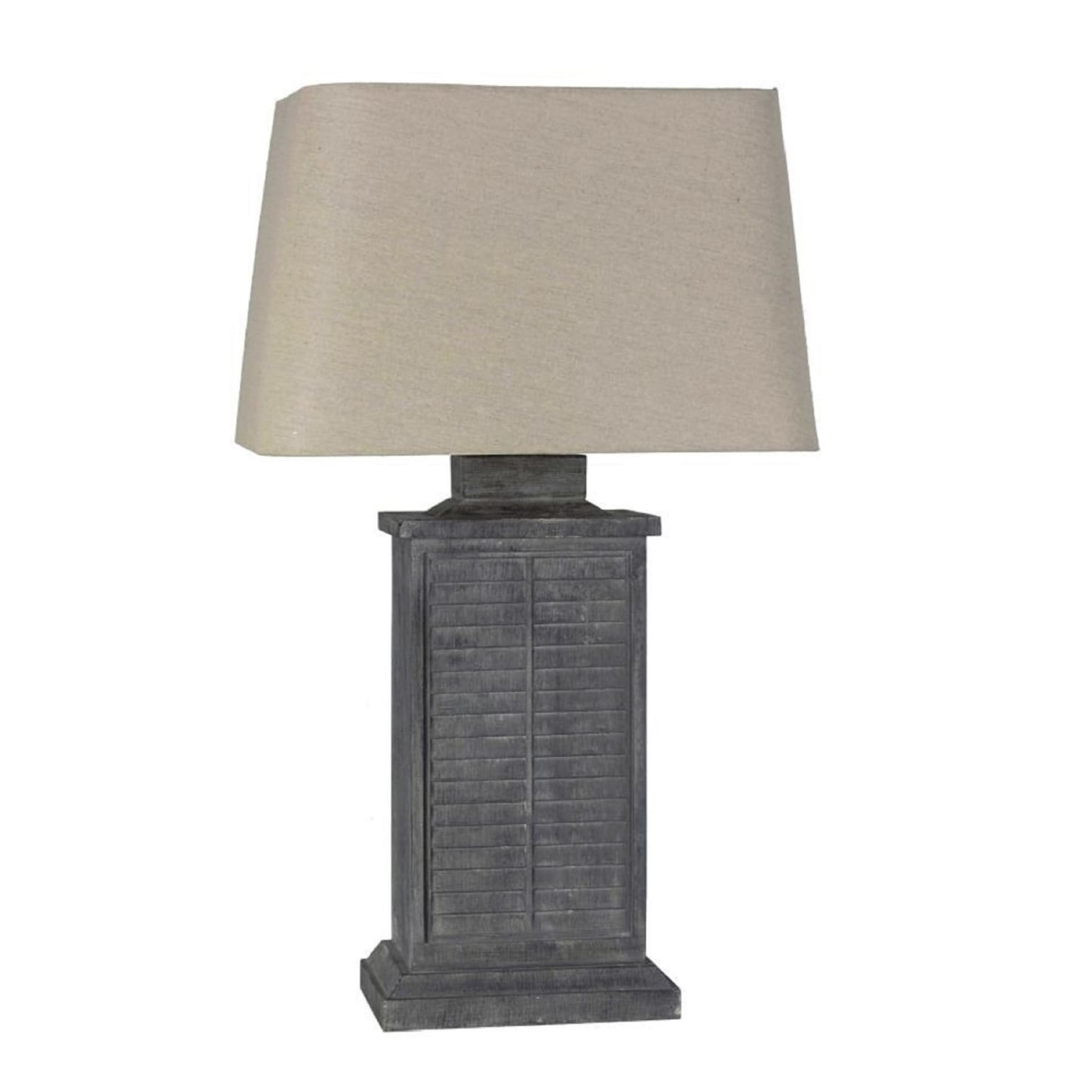 lamps per se 29 5 inch grey shutter indoor outdoor table lamp n a