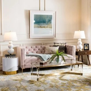 pink sofas red sofa literary absolute write buy online at overstock com our best living room safavieh couture vydia velvet tufted blush gold 70 08 in w x 34 84
